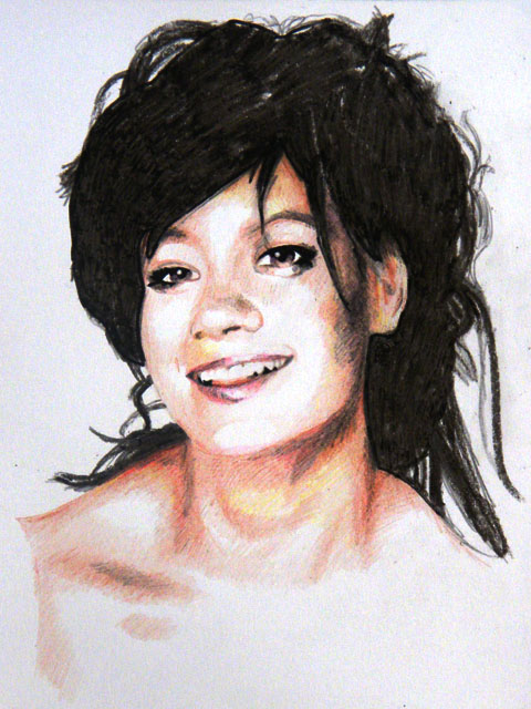 Lily Allen - Pencil/Crayon/Felt-tip sketch