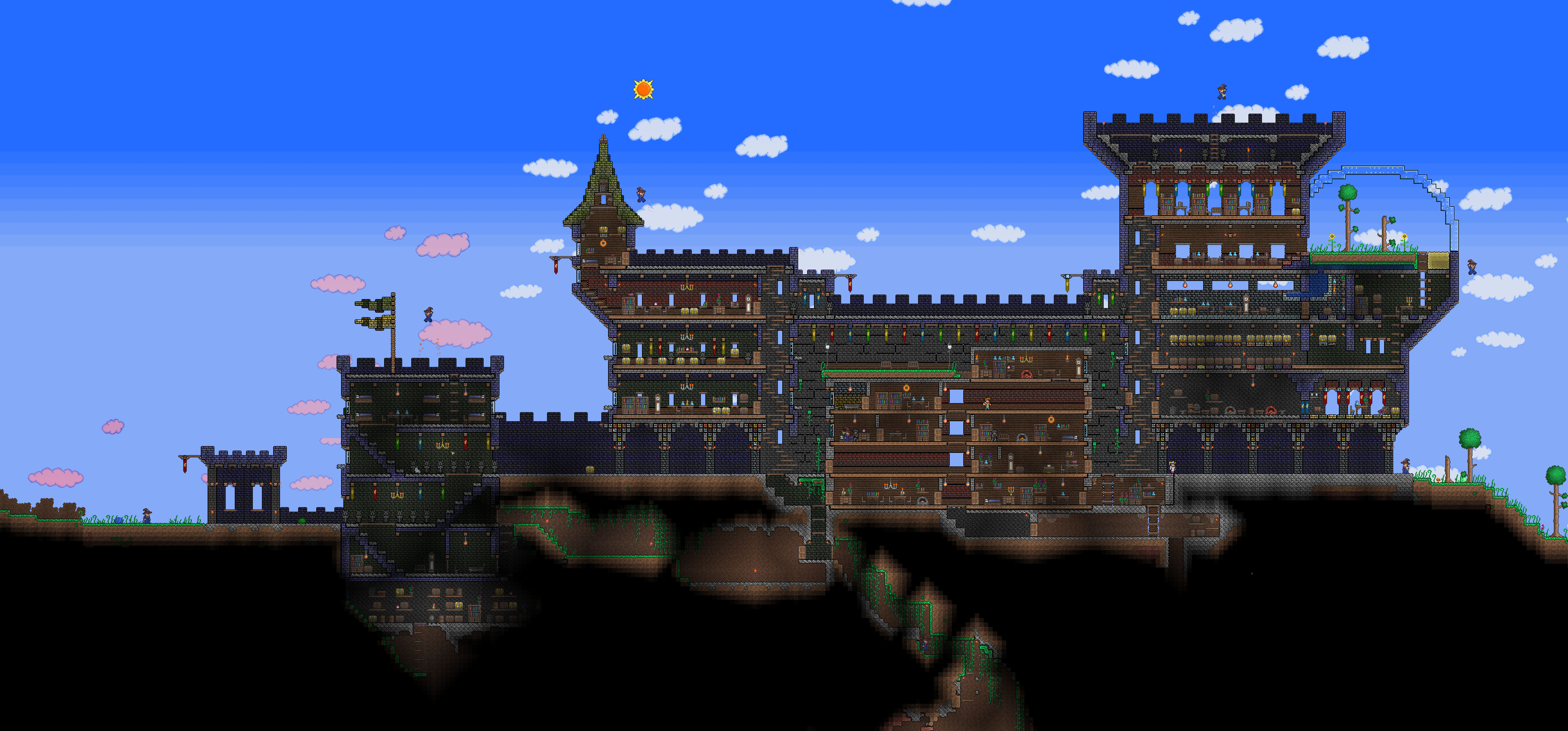 Naughty Nathan Blog Archive Terraria Castle